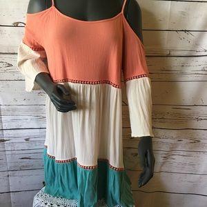 UMGEE /Color Block/Swing/Dress/Babydoll Sz XL